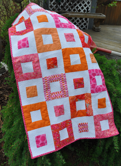 Pink & Orange Baby Quilt | Life In The Dog House